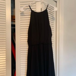 Black Dress with Keyhole Back